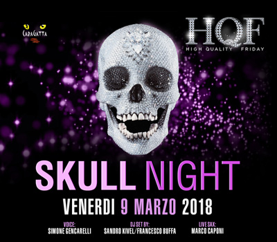 HQF - CARAGATTA - SKULL NIGHT - Boccaccio Club