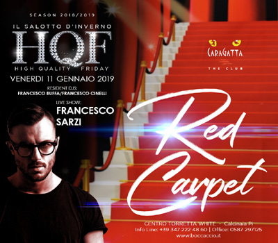 HQF - CARAGATTA - RED CARPET - Boccaccio Club