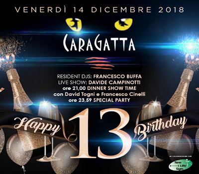 HQF - CARAGATTA - HAPPY 13 BIRTHDAY - Boccaccio Club